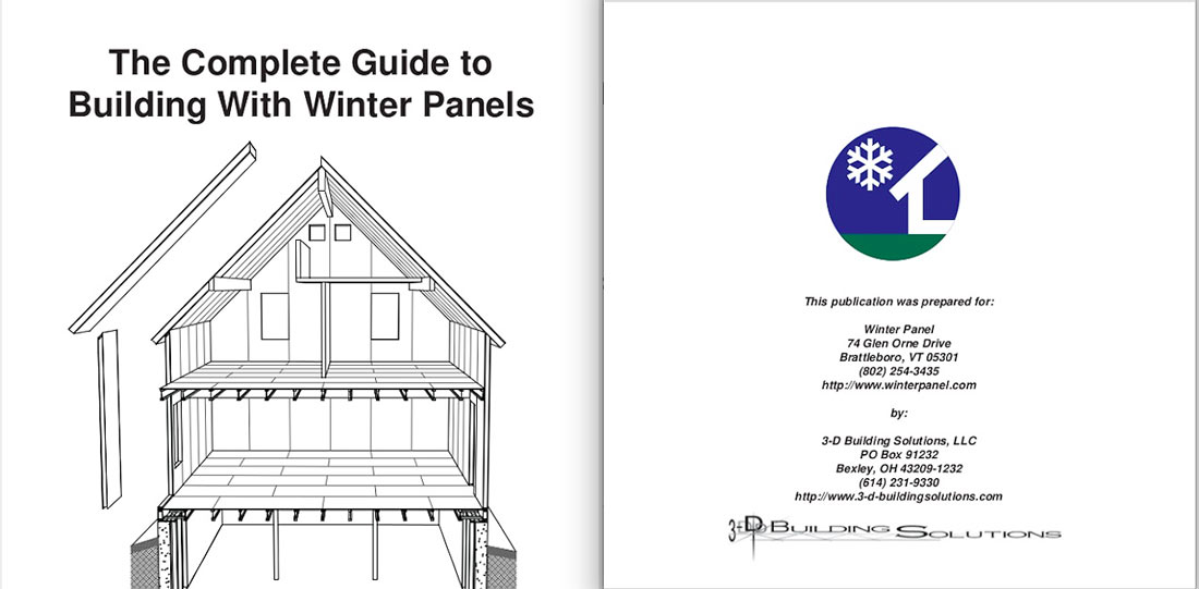 Building with winter panels image